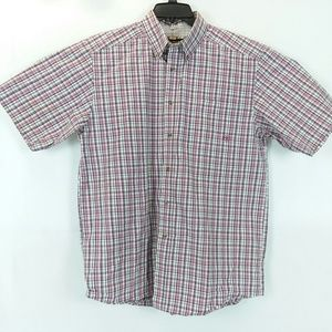 Ariat Pro Series Button Up Short Sleeve Plaid